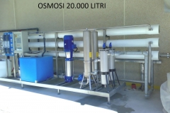 Osmosi industriale 20.000 litri-h